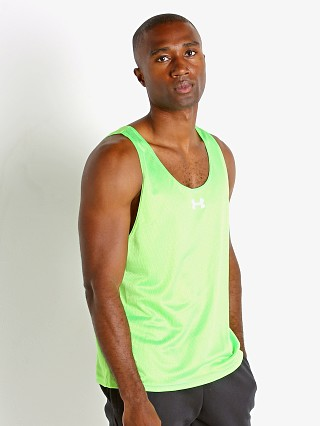 Model in poison green Under Armour Performance Training Vest