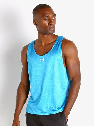 Model in capri blue Under Armour Performance Training Vest
