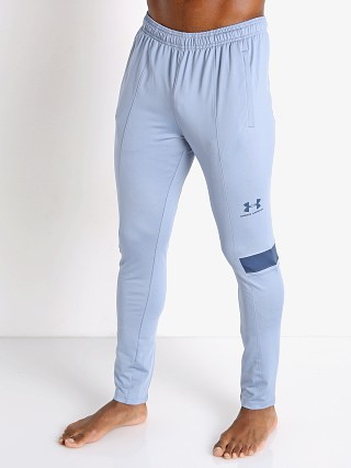 Model in washed blue Under Armour Challenger III Training Pant