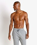 Under Armour Rival Fleece Pants Gray Light Heather, view 2