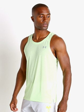 Model in summer lime Under Armour Streaker Run Tank Top