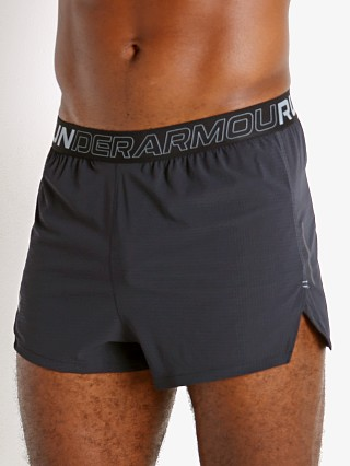 Model in black Under Armour Draft Running Shorts