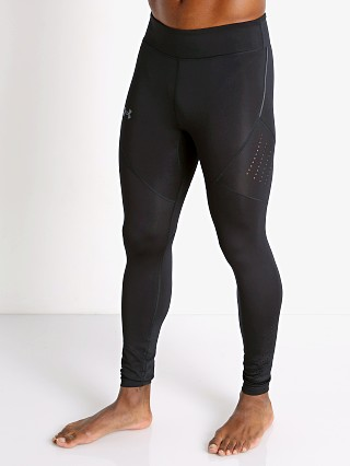 Model in black/black Under Armour Speedpocket Compression Tights