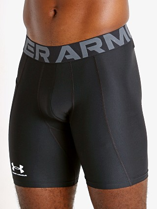 Model in black Under Armour HeatGear Compression Shorts