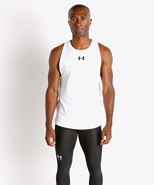Under Armour Baseline Cotton Tank Top White