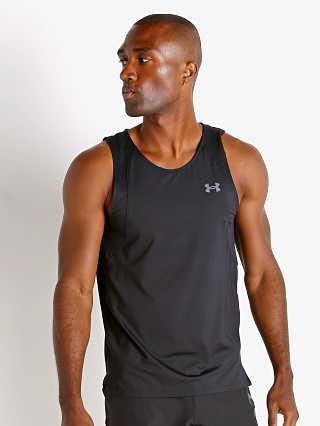 Model in black Under Armour Iso-Chill Running Tank Top
