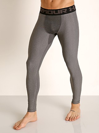 Model in carbon heather Under Armour Heatgear 2.0 Compression Legging
