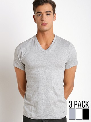 Calvin Klein Cotton Classics V-Neck Shirt 3-Pack Grey/Wht/Black