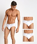 Calvin Klein Cotton Stretch Hip Brief 3-Pack White, view 1