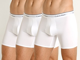 Calvin Klein Microfiber Stretch Boxer Briefs 3-Pack White