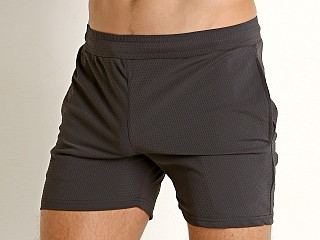 St33le Stretch Mesh Performance Shorts Charcoal