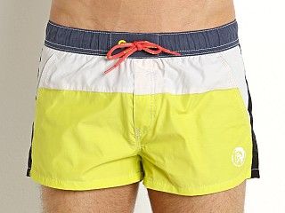 Model in sulphur spring Diesel Caybay Swim Shorts
