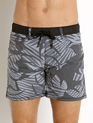 Model in black Diesel Waykeeki Palm Leaves Swim Boxer