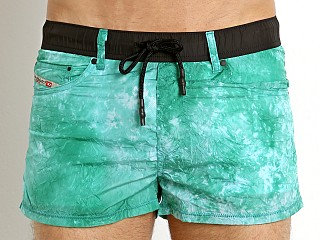 Diesel Tie Dye Waykeeki Swim Shorts Electric Green