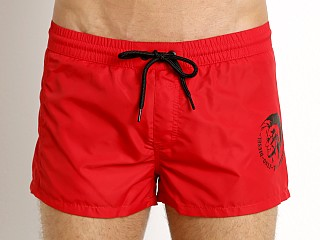 Diesel Mohican Sandy Swim Shorts Chinese Red