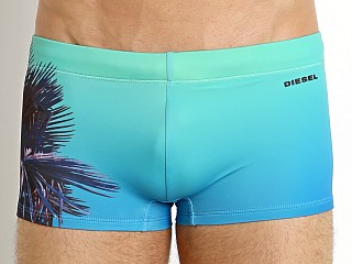 Diesel Hero Palm Trees Swim Trunk Electric Green