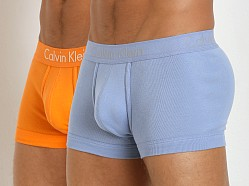 Calvin Klein Body Slim Fit 2-Pack Trunk Sky Space/Orange