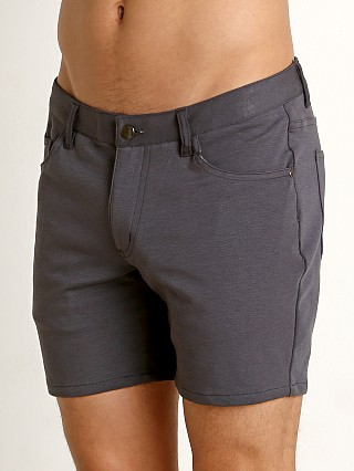 St33le Knit Jeans Shorts Graphite