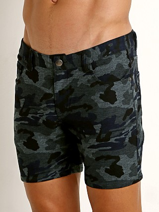 St33le Knit Jeans Shorts Blue Camo Limited Edition