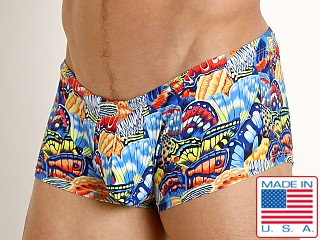 Model in butterflies Rick Majors Low Rise Swim Trunk