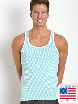 Pistol Pete Marquee Tank Turquoise