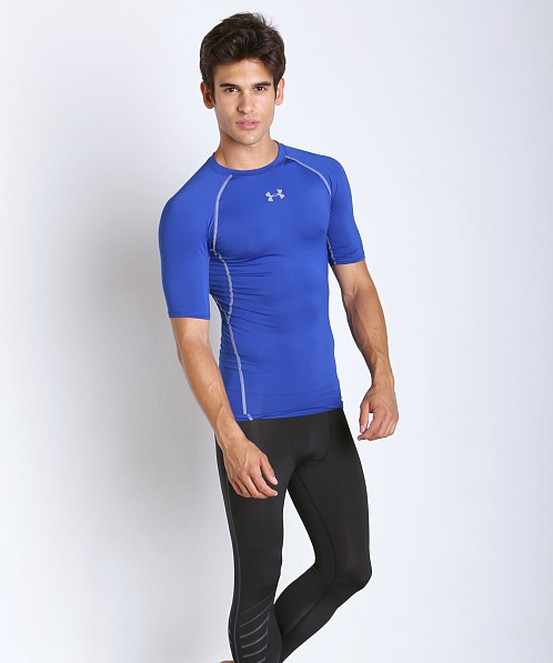 Under Armour Heatgear Shortsleeve Compression Shirt Royal