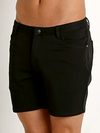 St33le Stretch Jeans Shorts Black