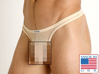 Model in blush Rick Majors Sheer Mesh Thong