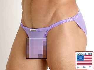 Model in lavender Rick Majors Sheer Mesh Sports Brief