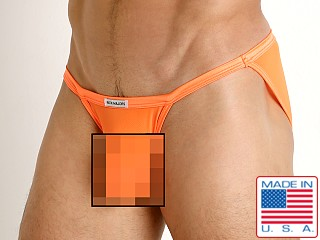 Model in orange Rick Majors Sheer Mesh Sports Brief