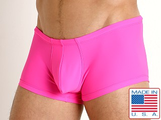 Model in pink Rick Majors Low Rise Swim Trunk