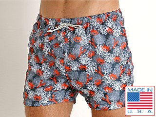 Model in lobster LASC Parachute Poly Swim Boxer