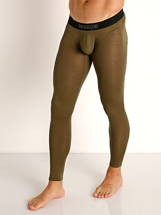 Model in army McKillop Max Bulge Modal Long Johns