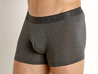 Model in charcoal 2xist Pima Flex Trunk