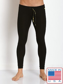 N2N Bodywear Cotton Sports Runner Tights Black