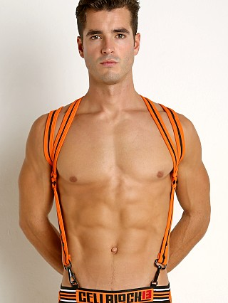 Cell Block 13 Spider Neoprene Harness Orange
