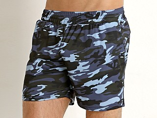 St33le Stretch Performance Shorts Blue Camo