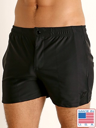 Model in black LASC Malibu Swim Shorts