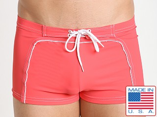 Sauvage Lace-Up Surfer Square Cut Coral