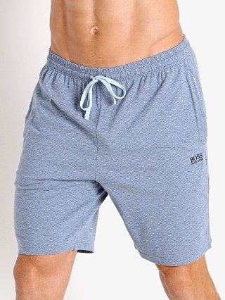 Model in heather grey Hugo Boss Mix & Match Shorts
