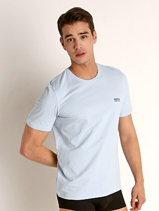 Model in baby blue Hugo Boss Mix & Match T-Shirt