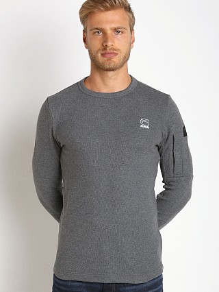 G-Star Batt Kylio Waffle Sweatshirt Grey Heather