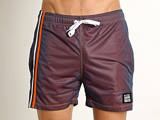 Model in navy Jack Adams Cross Court Mesh Short