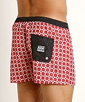 Jack Adams Hipster Swim Trunk White/Red, view 4