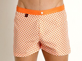 Model in orange Jack Adams Oswego Swim Trunk