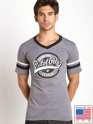 Pistol Pete Champion V-Neck Tee Gray