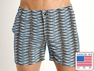LASC Laguna Swim Shorts Blue Weave
