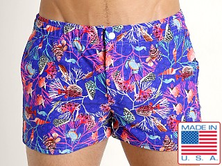 LASC Malibu Swim Shorts Royal Undersea