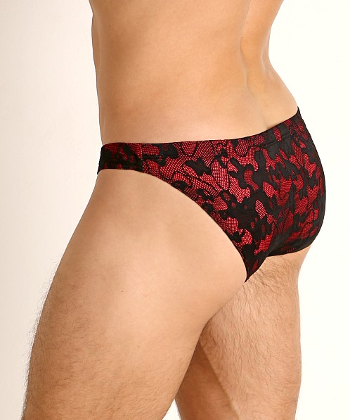 Manstore Lacy Brief Black/Red
