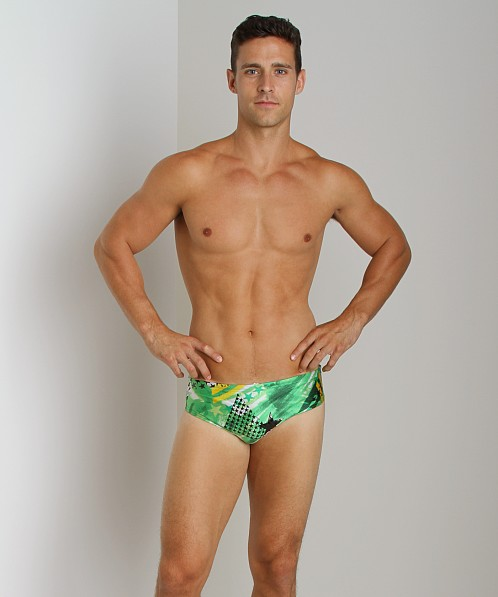 Speedo Home Of The Fast Team Usa Swim Brief Kelly Green